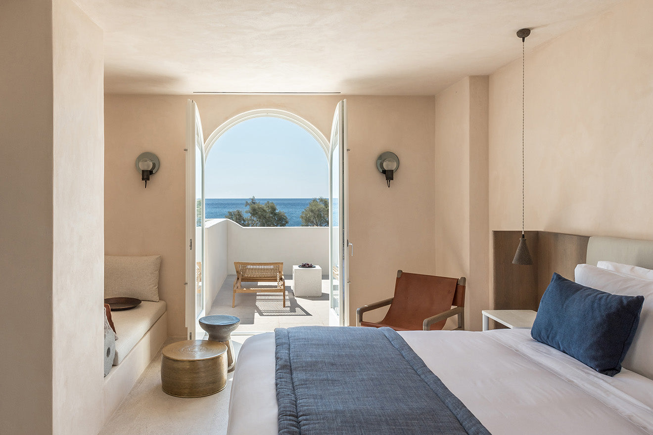 ISTORIA Hotel Sanotini, Greece with views from the suite designed by Laboratorium