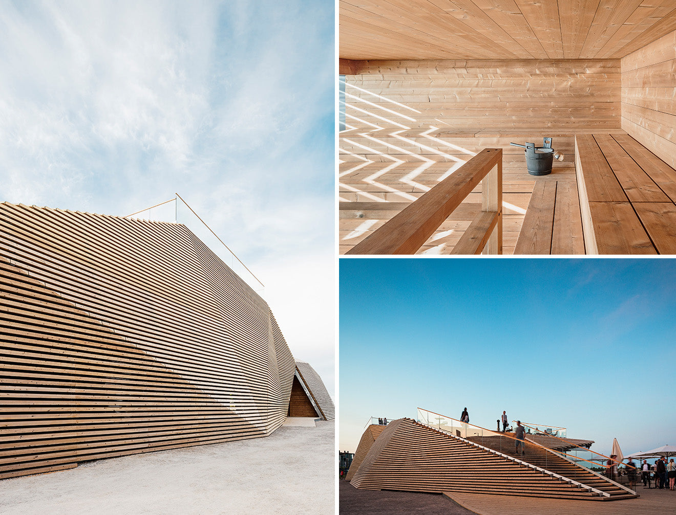 Iconic wooden architecture Sauna design from Avanto Architects