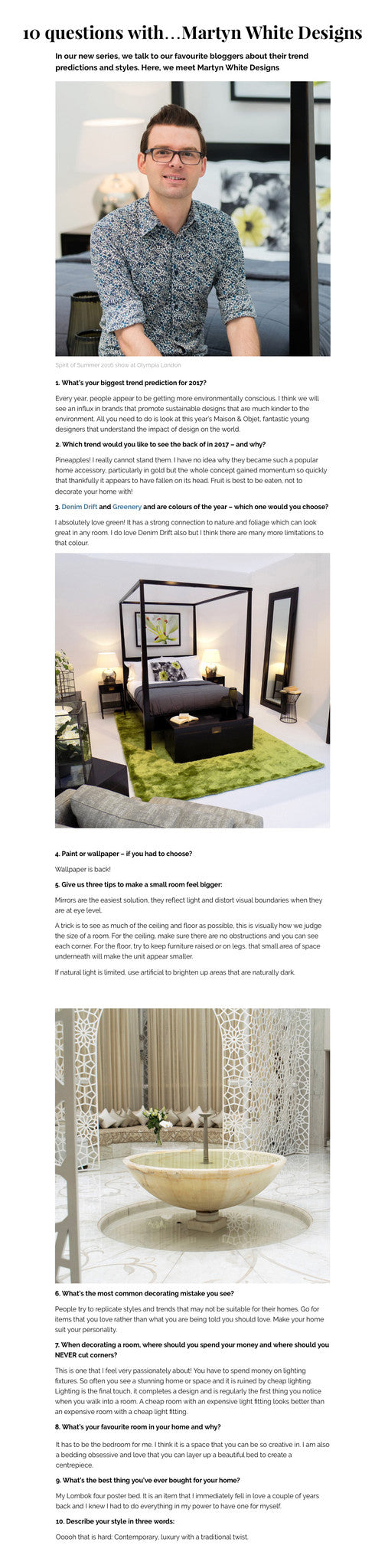 Ideal Home interview with Martyn White Designs