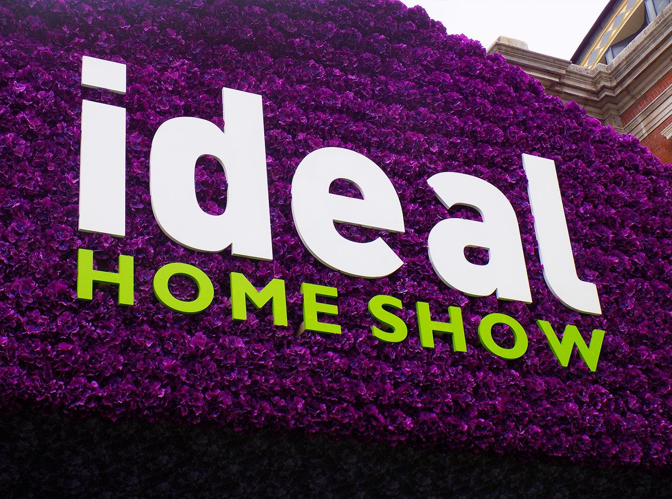 Ideal Home Show Logo and entrance Olympia