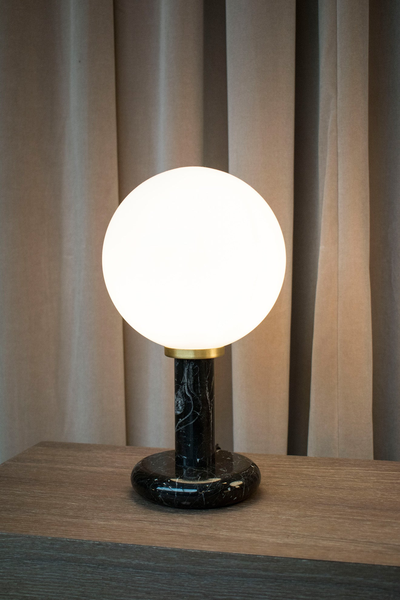 CTO Lighting Decorex London Design Festival Pearl and marble table lamp