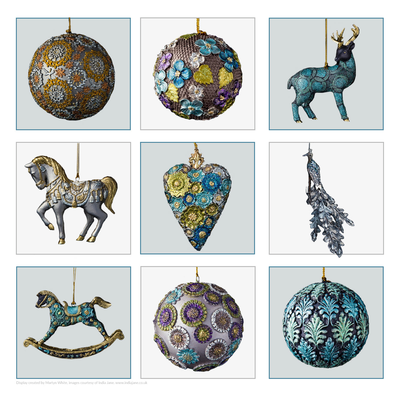 India Jane Christmas decorations and ornaments