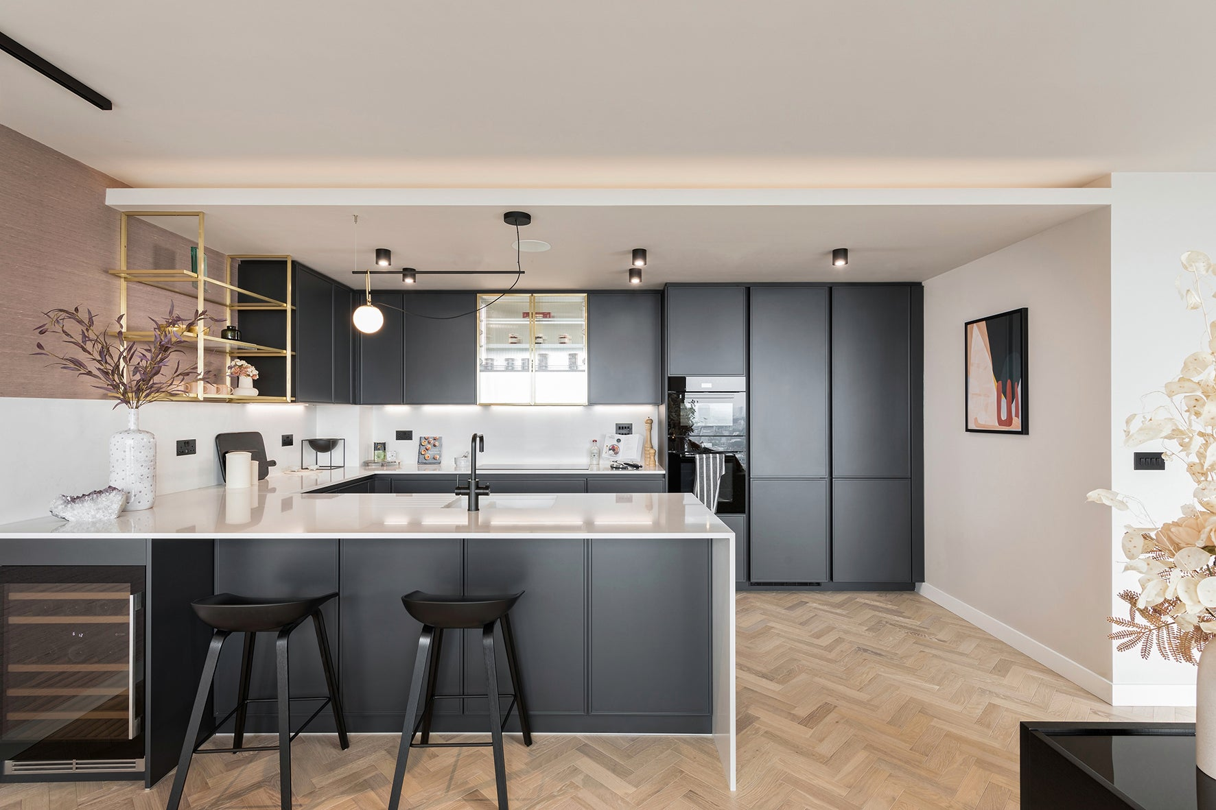 The kitchen area, luxury apartment 250 City Road, London Valencia Tower