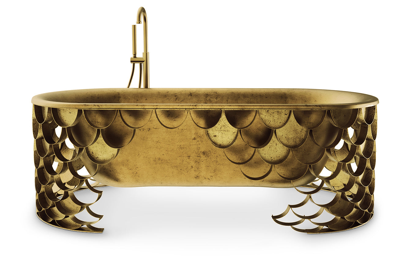 Golden bathtub koi scales from Maison Valentina