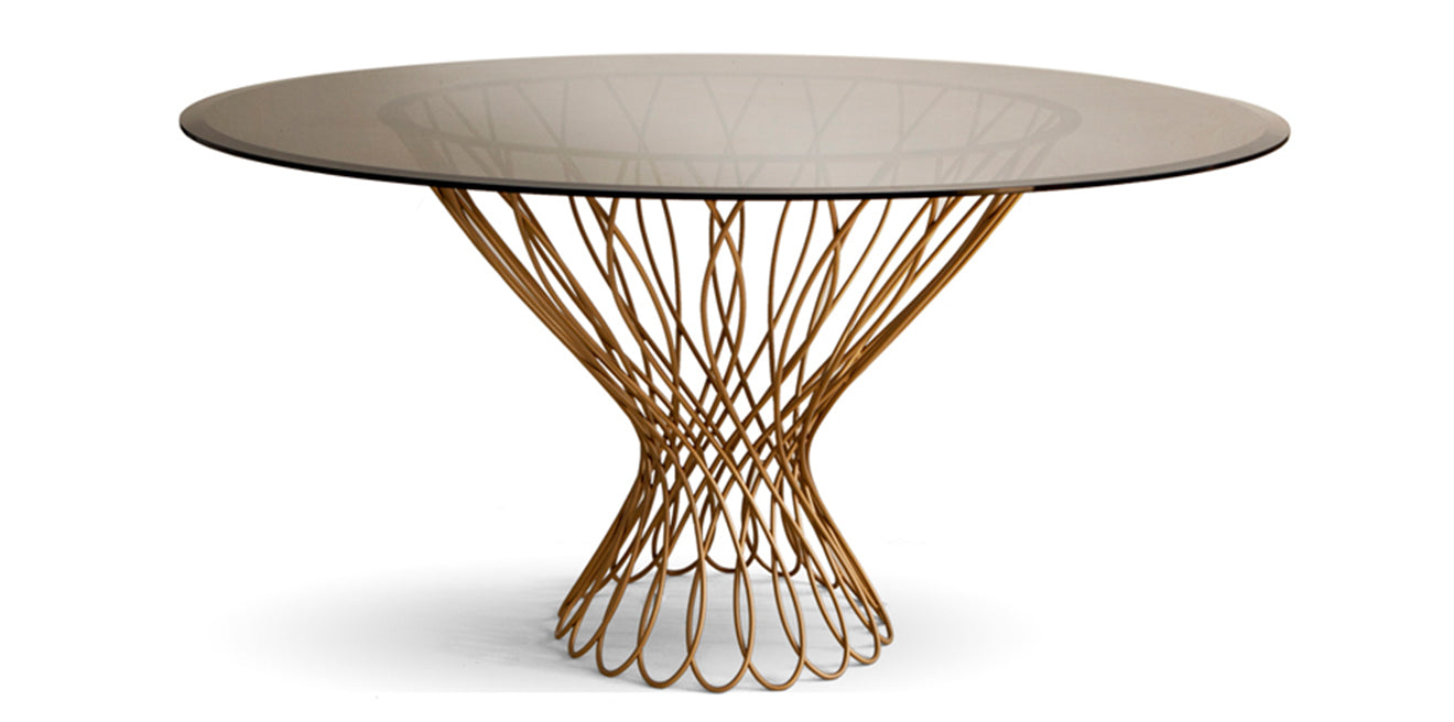Koket Dining table design Allure in gold