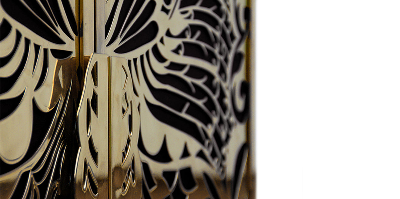 Koket Mademoiselle Armoire Detailing black and gold