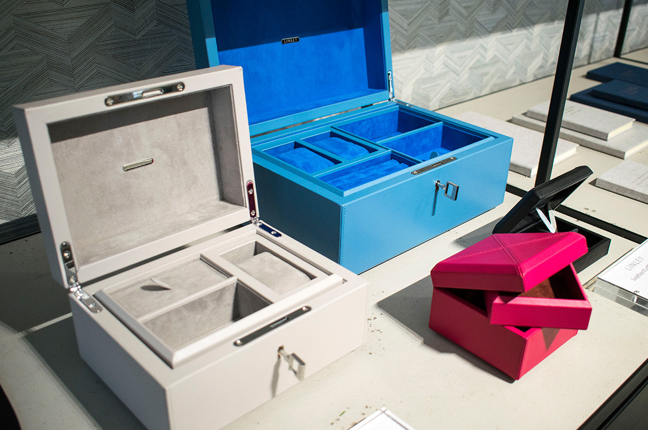LINLEY London colourful jewellery boxes