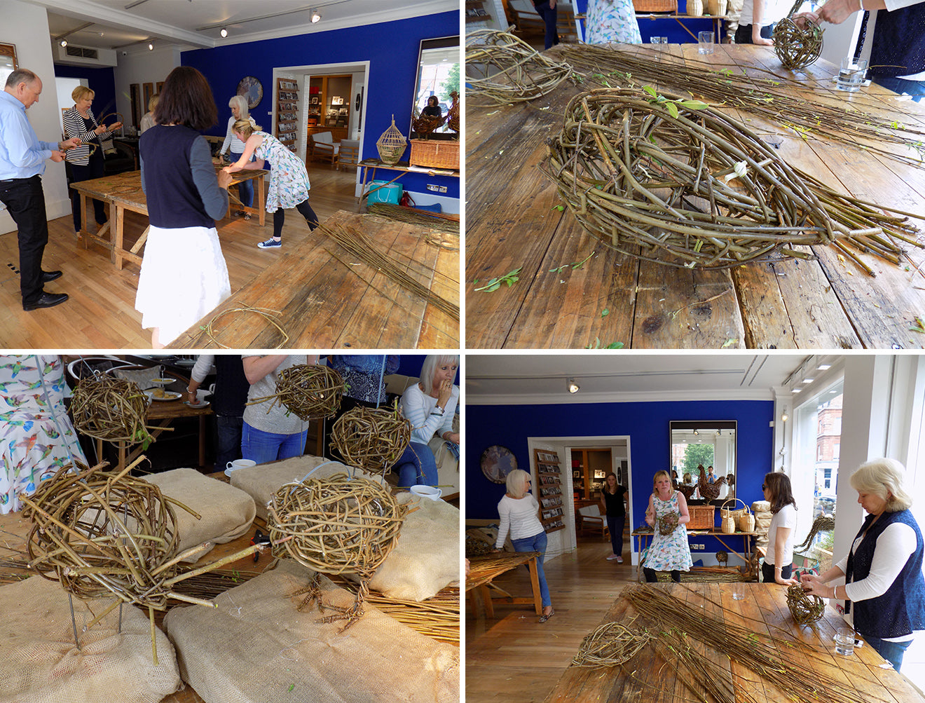 willow weaving sculptures at LINLEY London