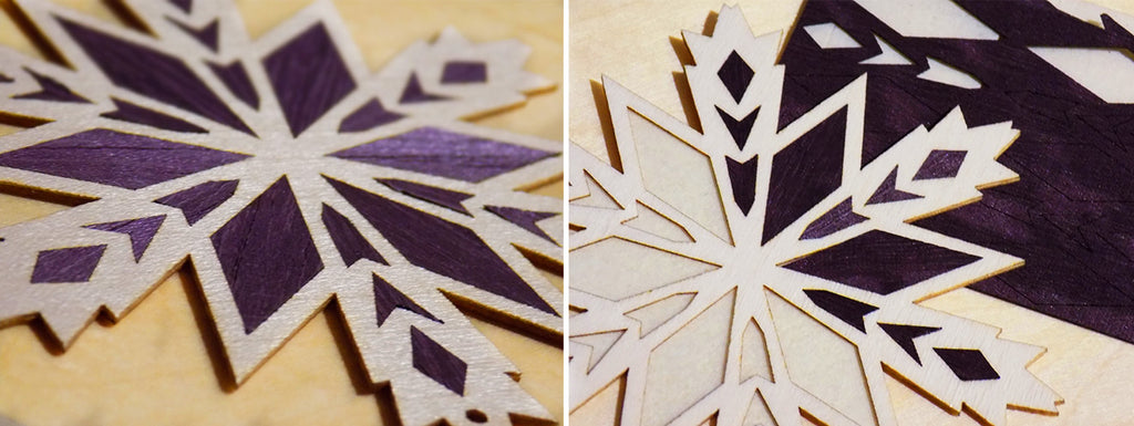 wooden christmas accessories marquetry demonstration at LINLEY