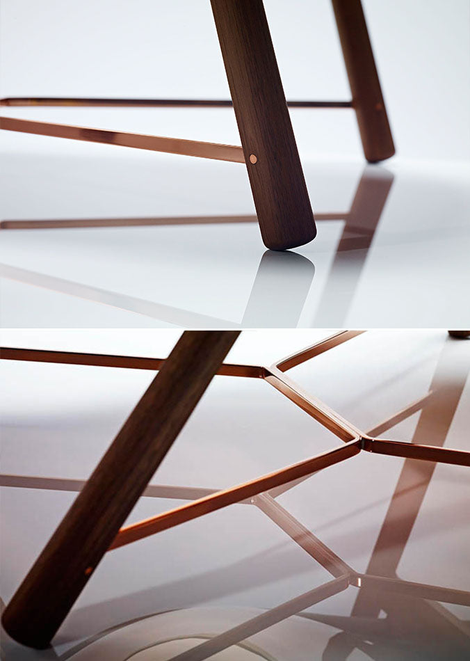 LINLEY Silhouette chair copper detailing