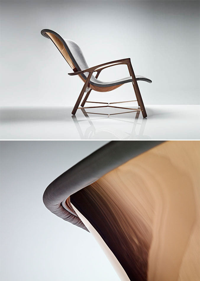 David LINLEY Silhouette Chair Copper Detailing