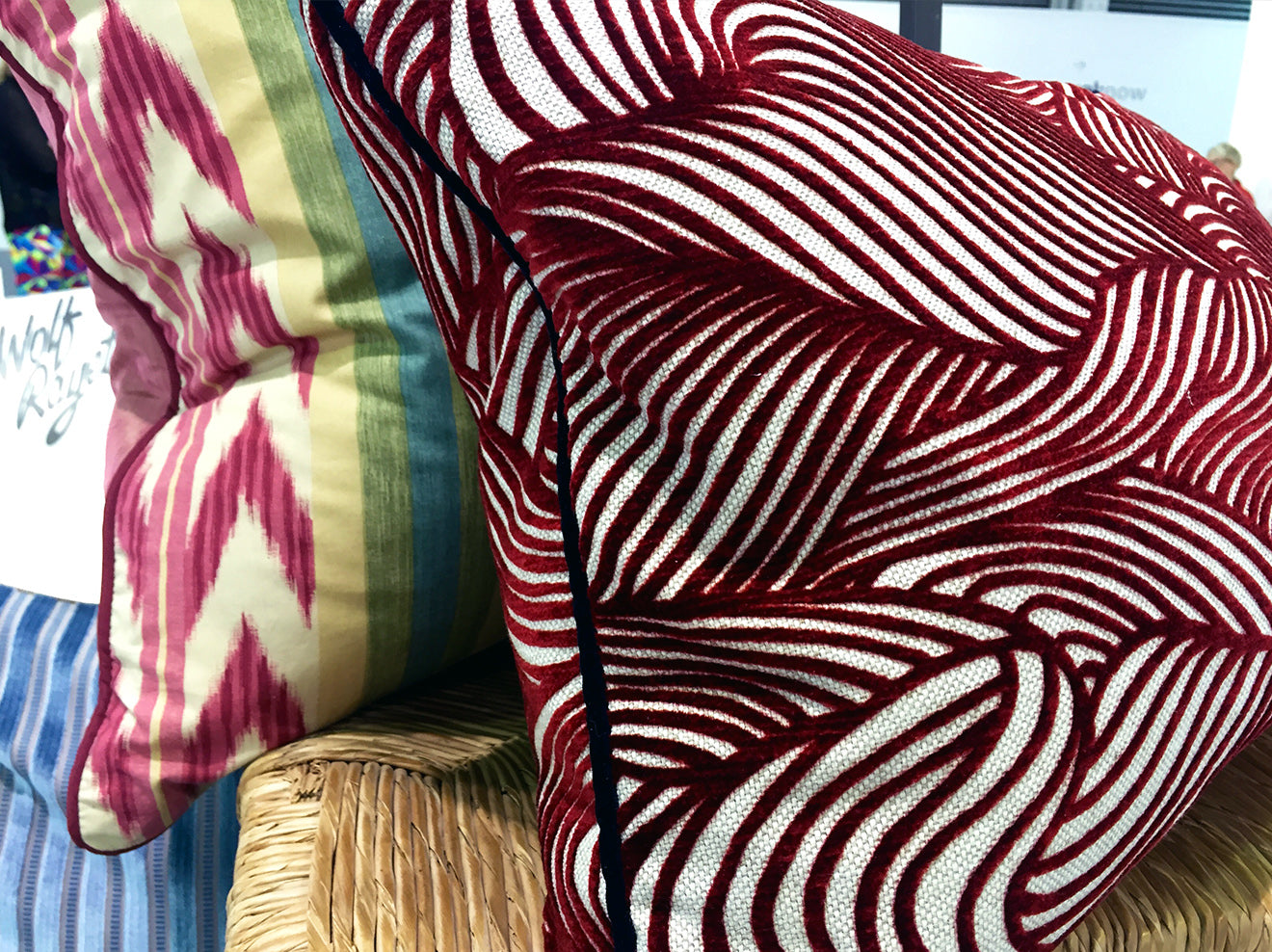 Lauriger luxury cushions with vibrant prints