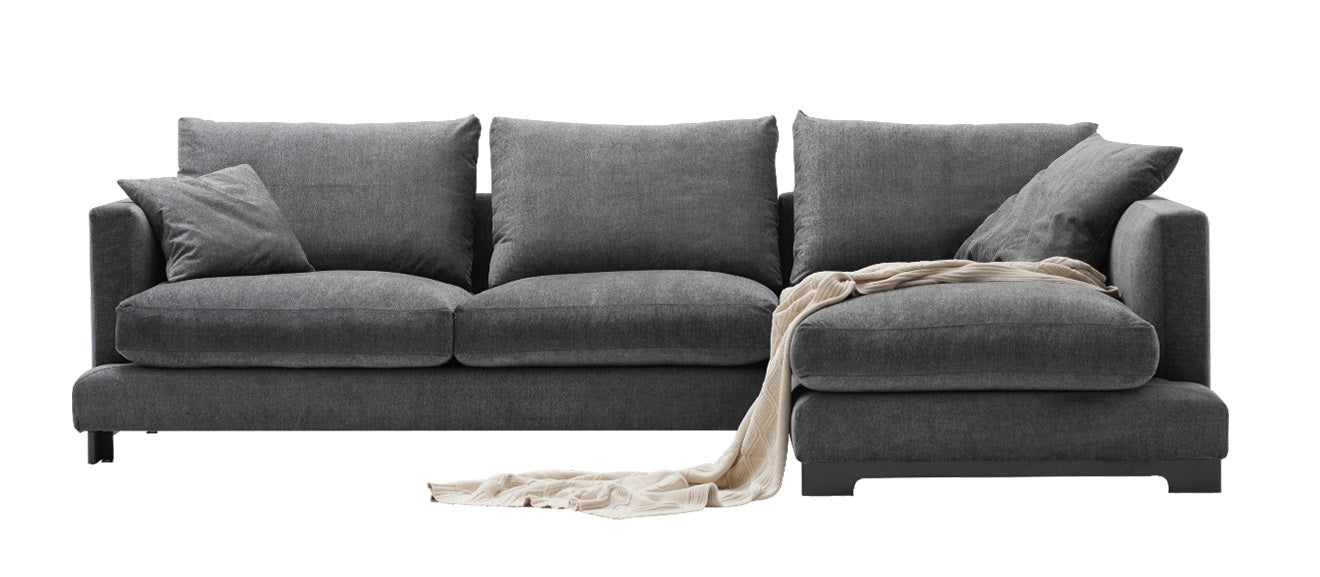 Grey contemporary upholstered sofa Lazytime Plus from Camerich
