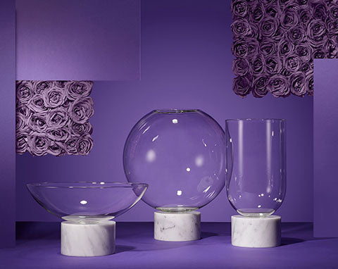 Lee Broom Vase Designs Purple Background