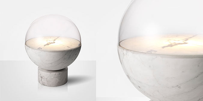 Lee Broom Carrara Marble Globe Light