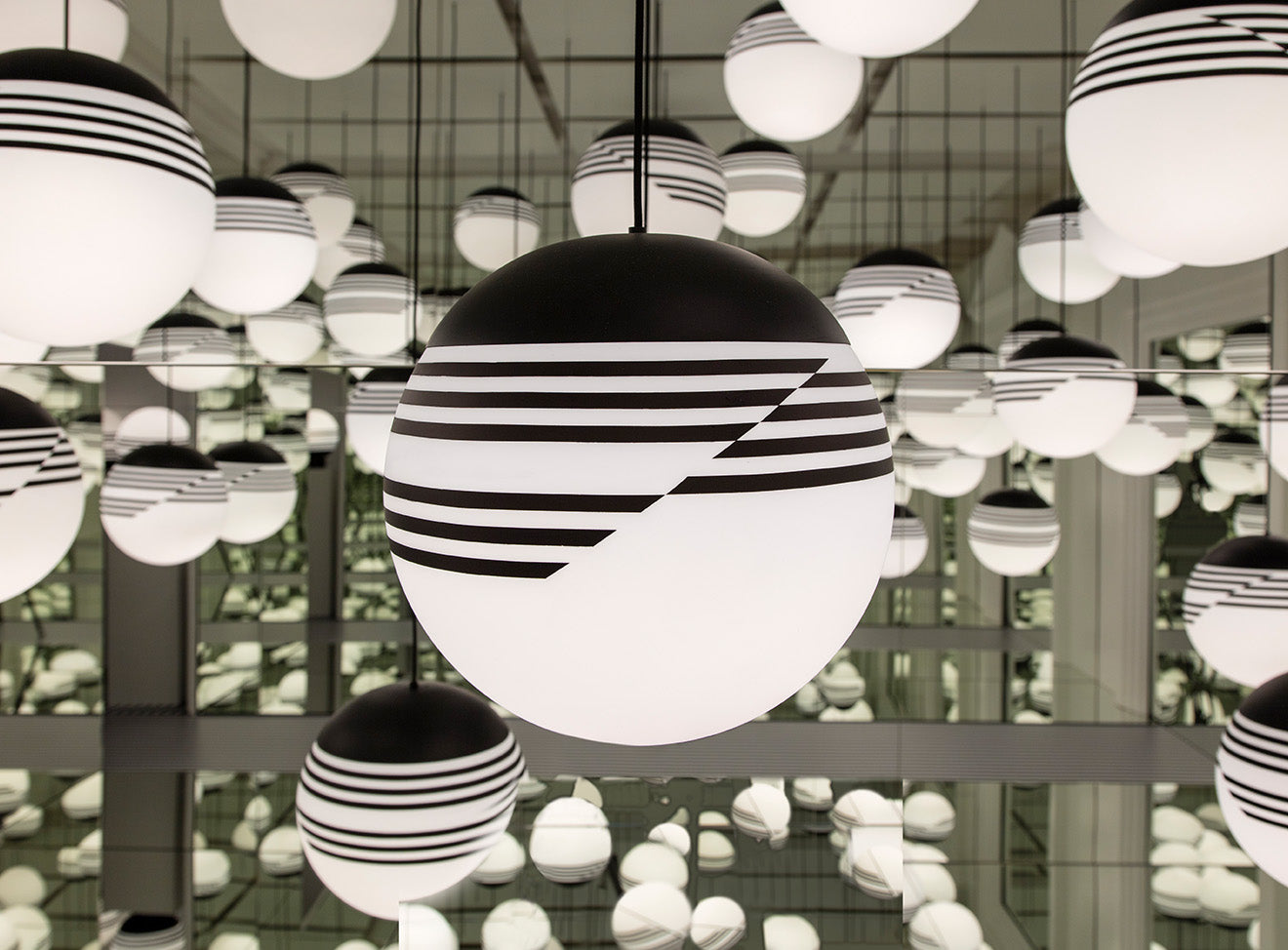 Opticality Lighting from Lee Broom on display at his London Showroom