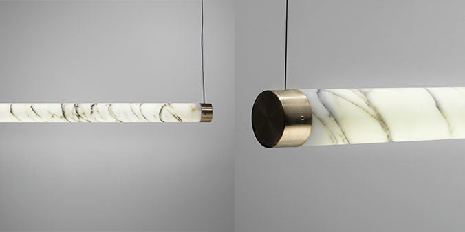 Lee Broom Carrara Marble Tube Lighting Feature