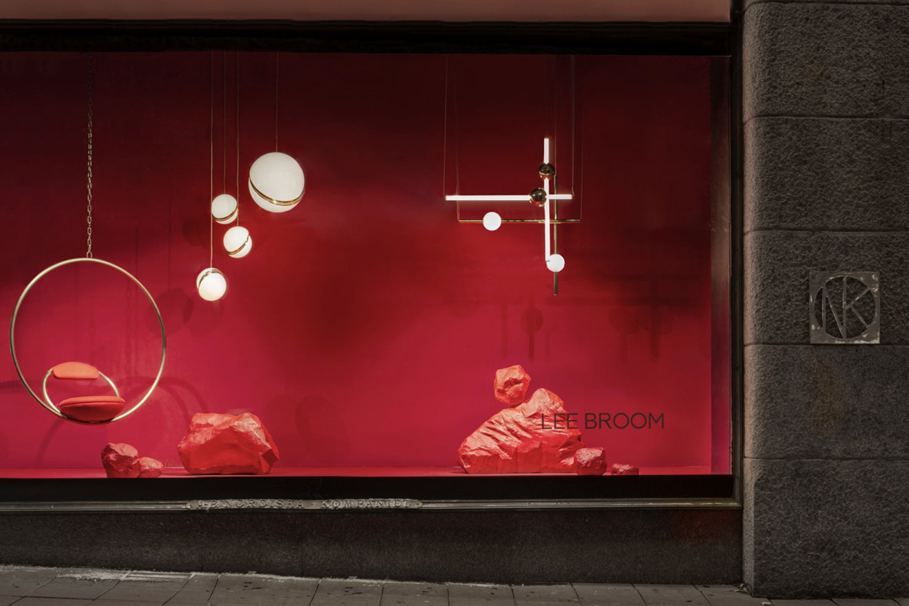 Lee Broom designs a window concept for Luxury department store NK Stockholm during Stockholm Design Week