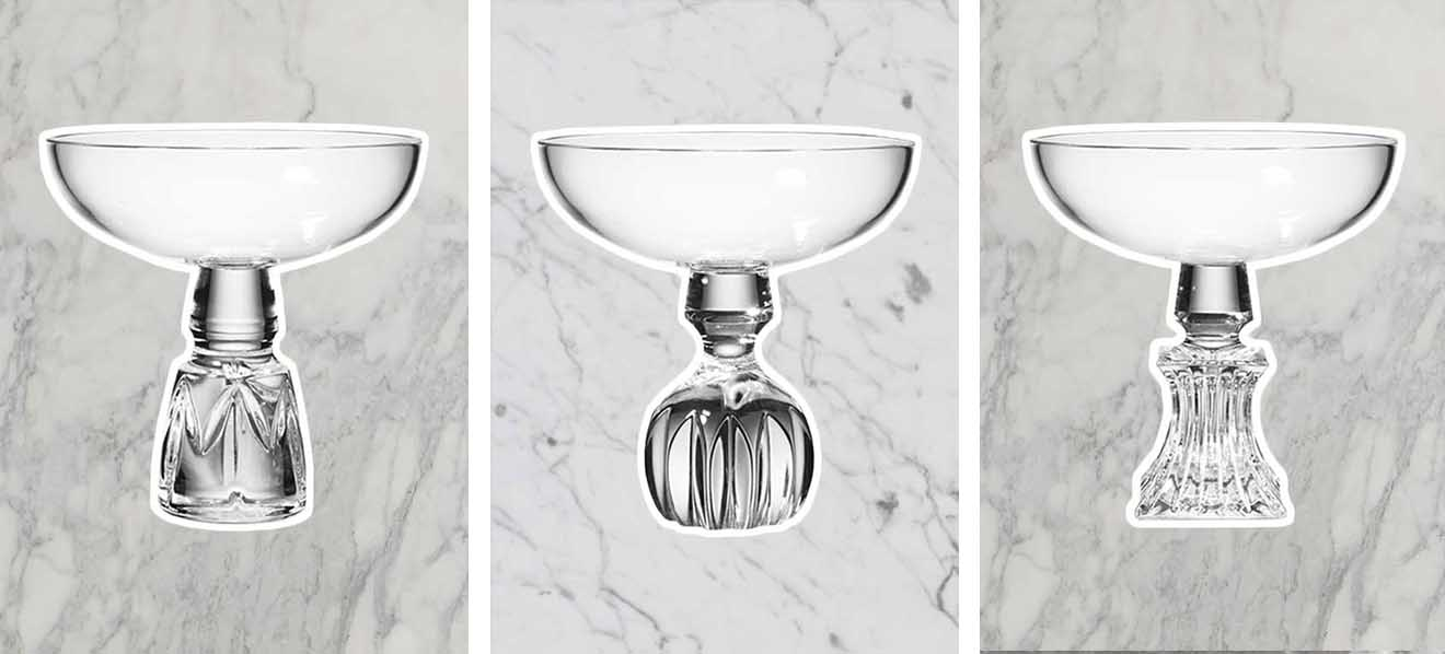 Lee Broom Half Cut Champagne Coupe designs