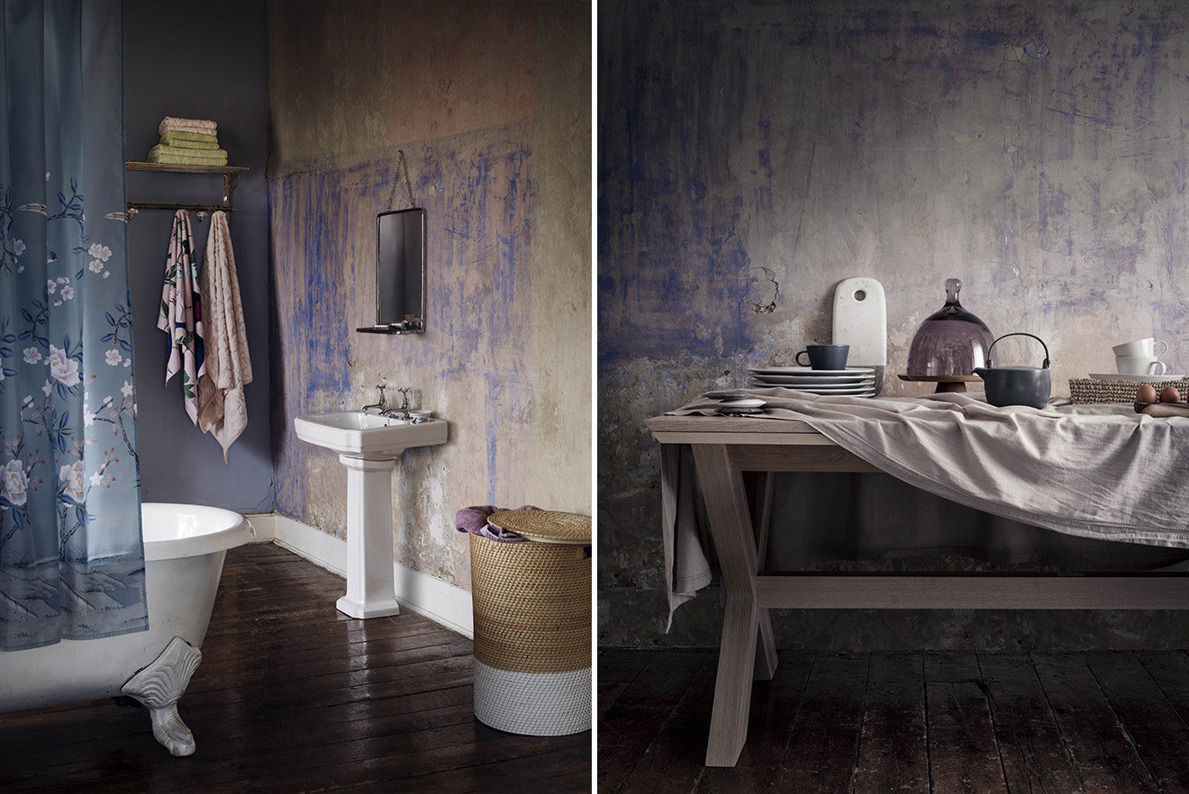 soft purple home interior decoration bathroom and home accessories from Marks and Spencer