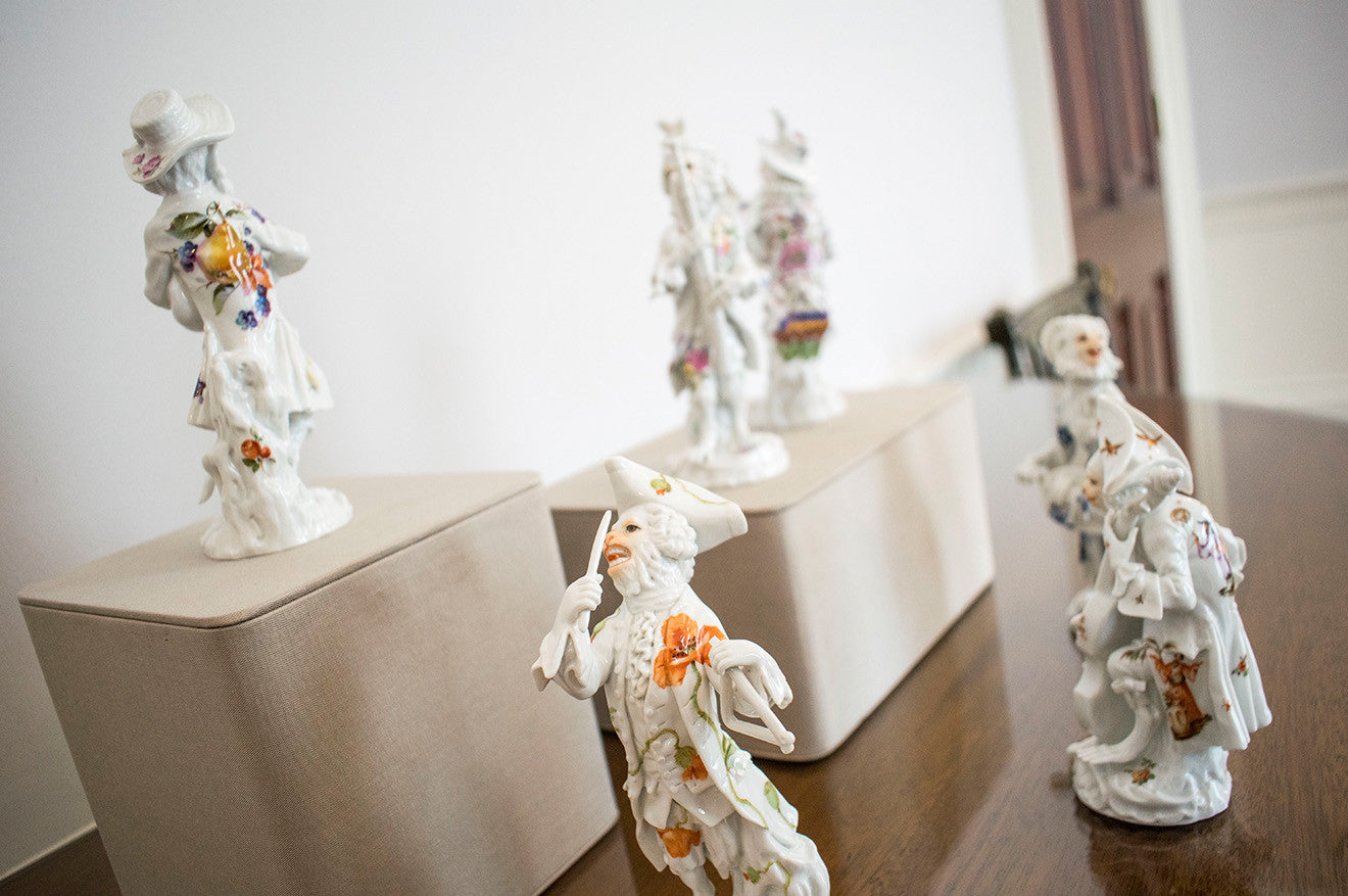 Meissen monkey figurines at Asprey London Craft Week