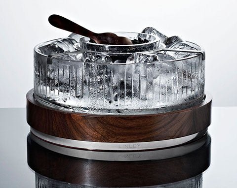 Linley Luxury Crystal Caviar Bowl