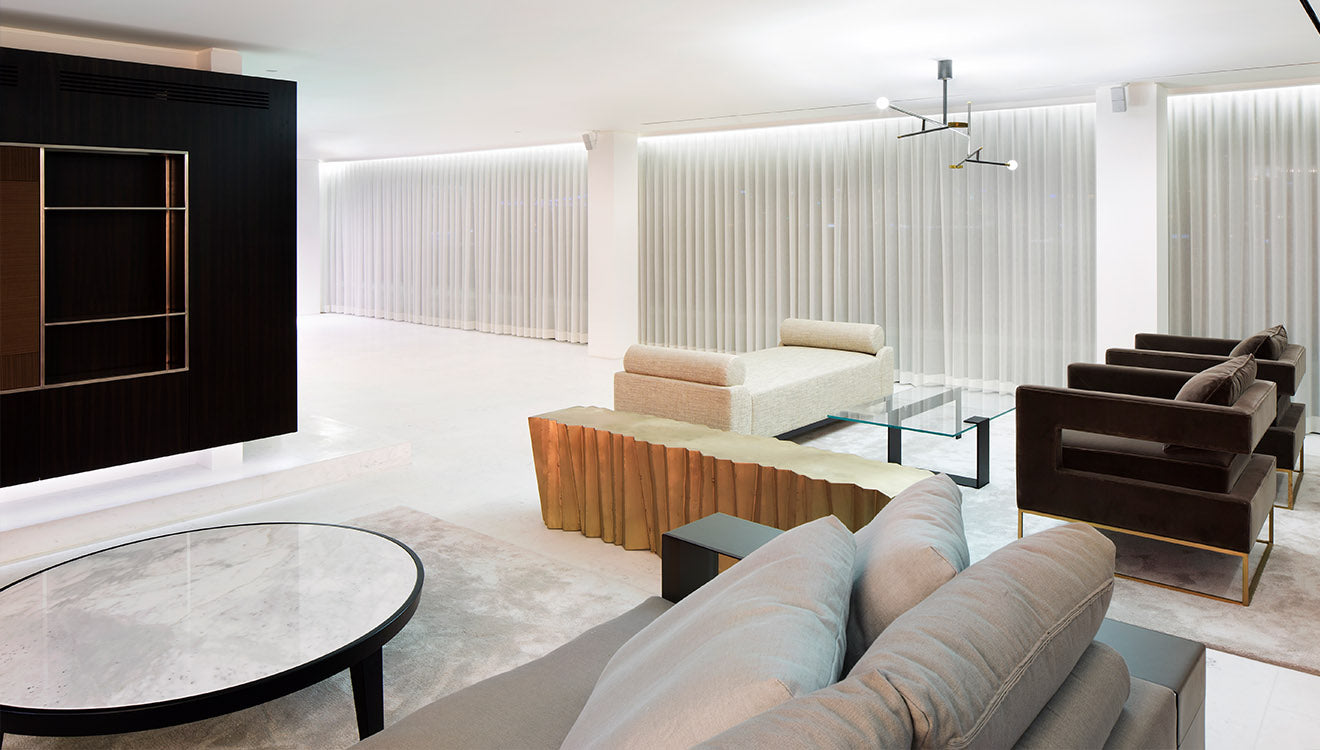 Luxury modern reception area in beautiful house in Istanbul designed by 1508
