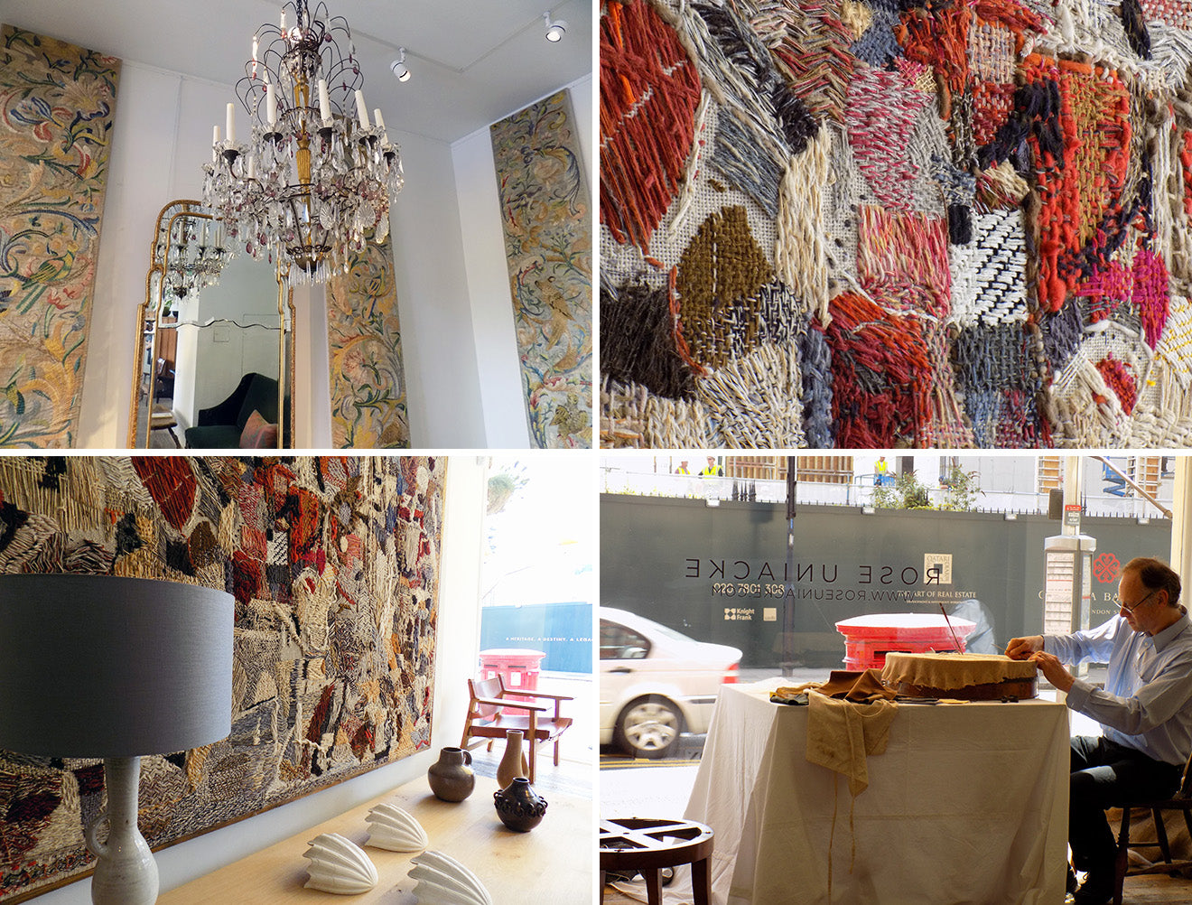 Rose Uniacke london showroom displays for London Craft Week