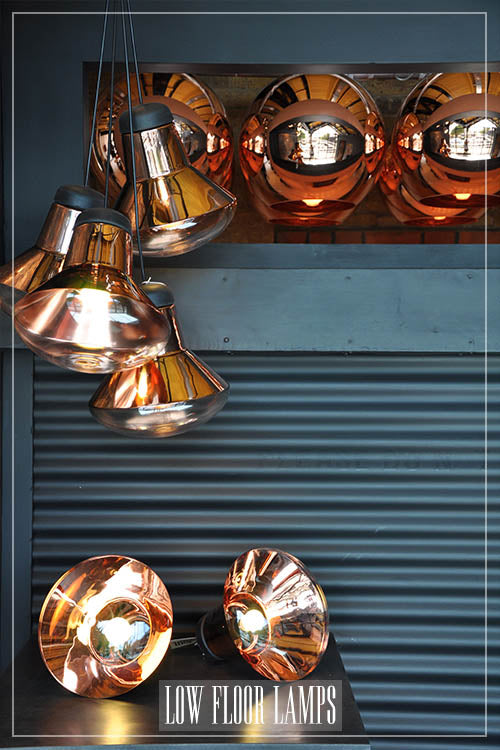 Low copper floor lamps and lighting Tom Dixon