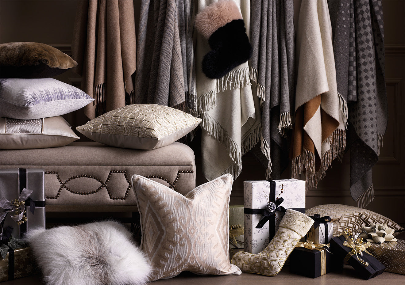 Luxury cushions and throws from Luxdeco
