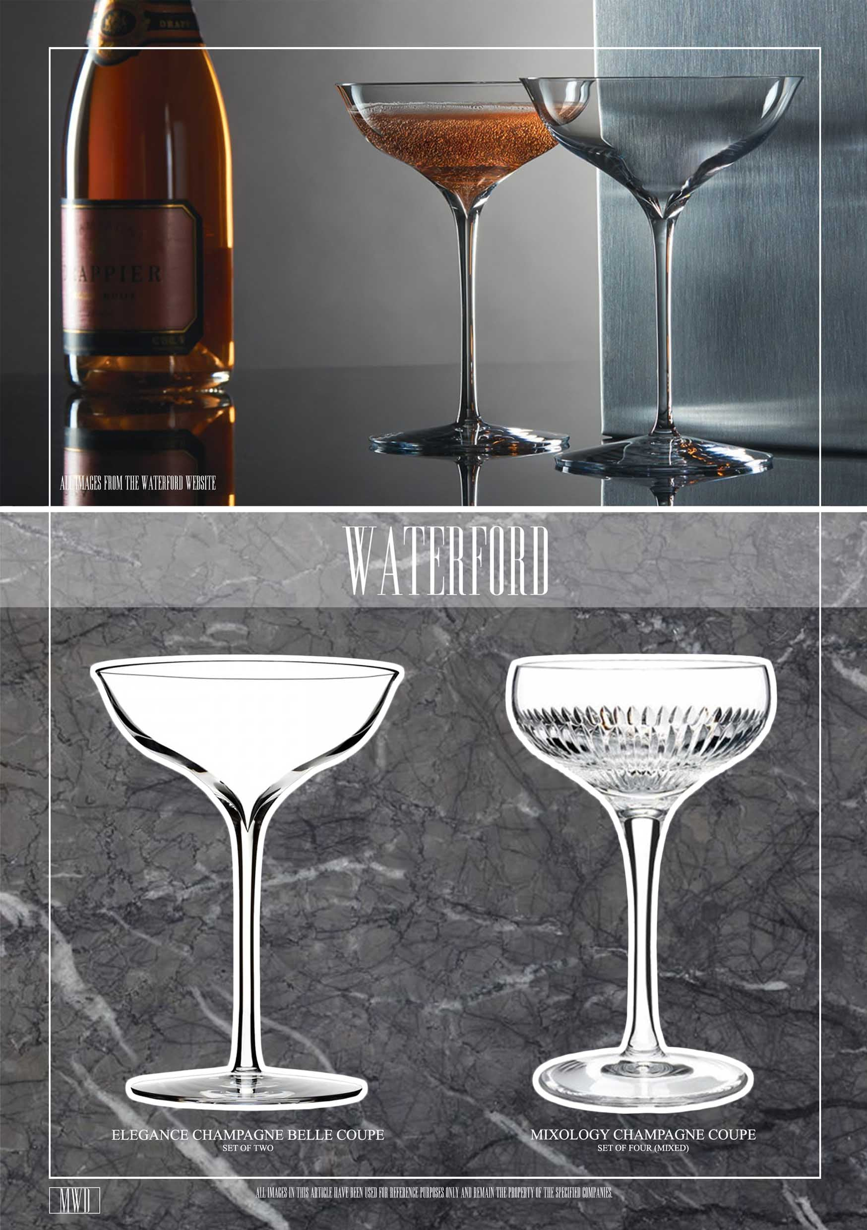 Waterford luxury champagne coupe