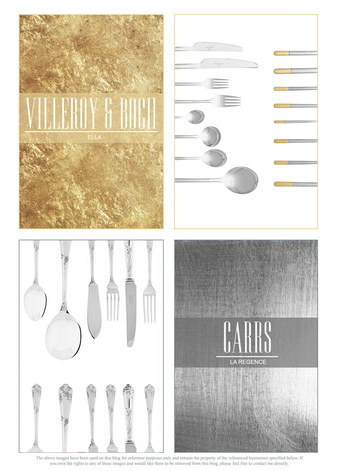 Luxury Cutlery Collections Villeroy & Boch and Carrs collections