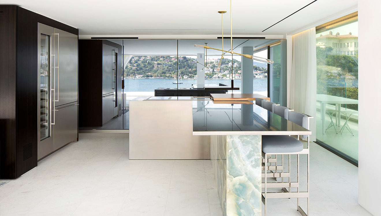 Luxury kitchen in this modern house design in Istanbul designed by 1508