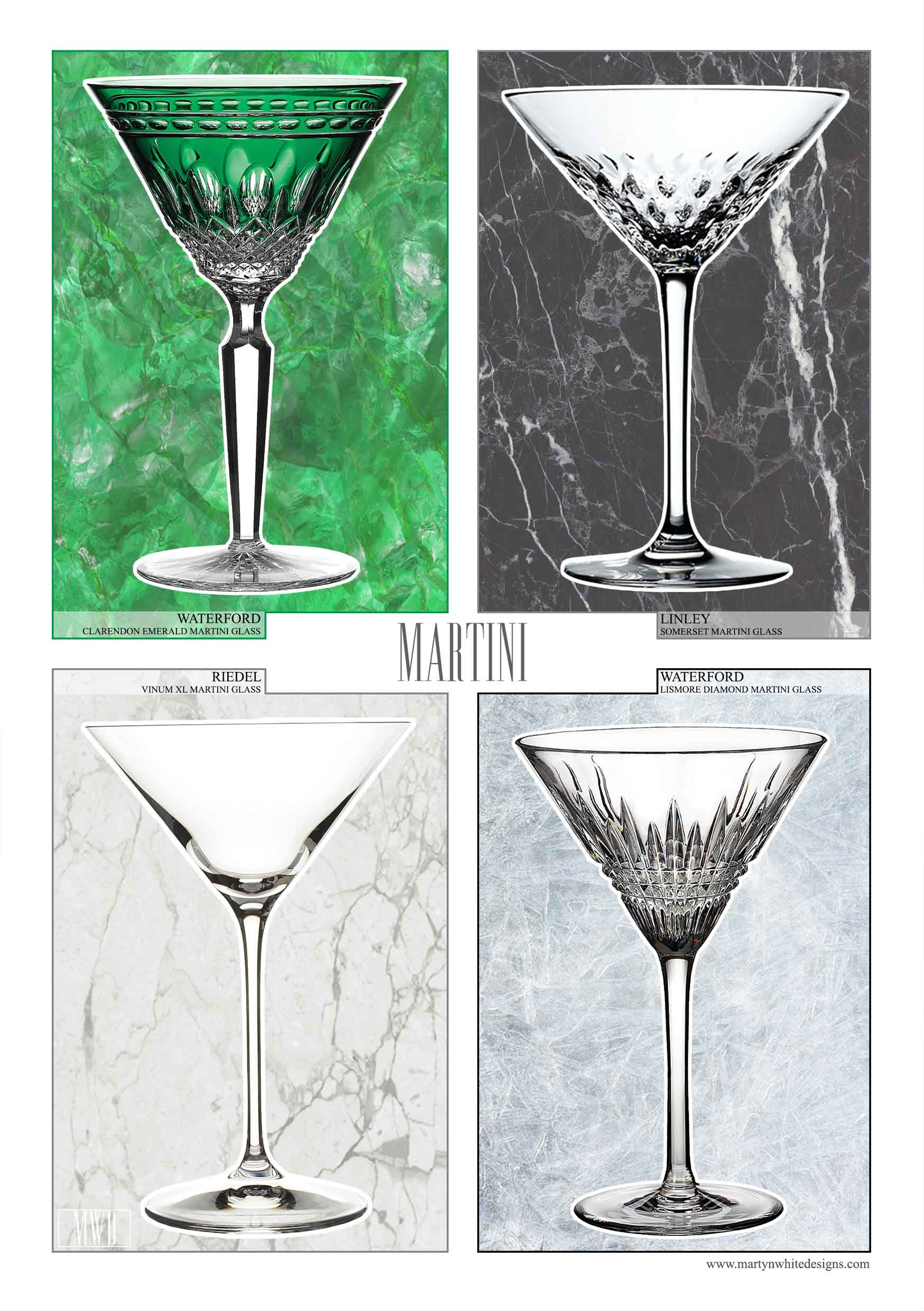 Luxury Martini Glass Collections