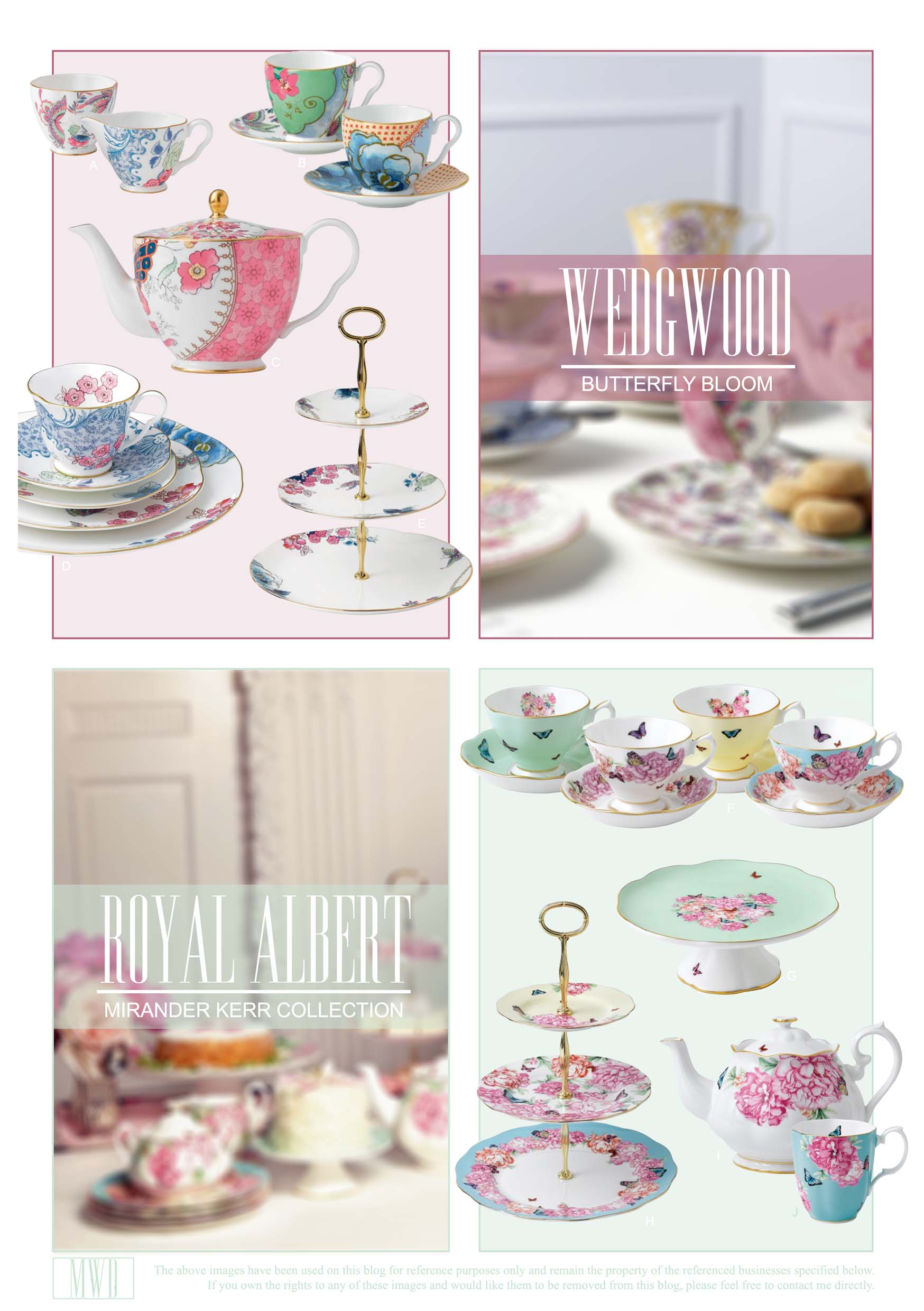 Wedgwood and Royal Albert luxury teaware collections