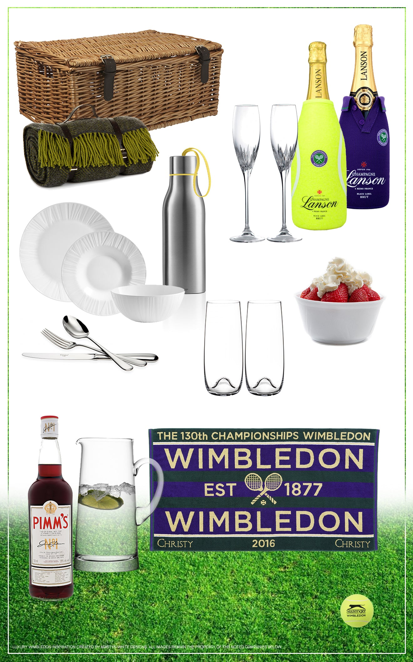 Wimbledon Championship celebration essentials