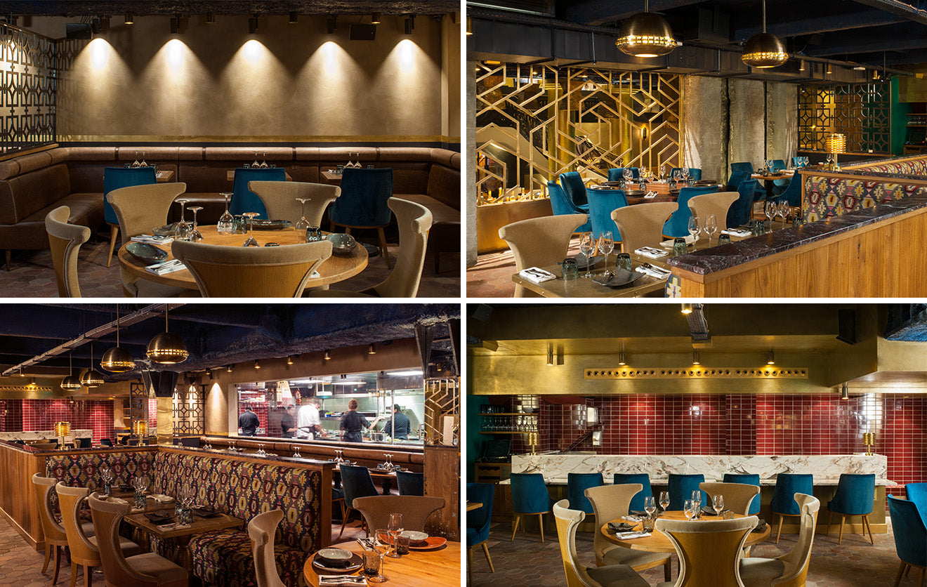 Luxury restaurant and bar in Paris Manko by Laura Gonzalez