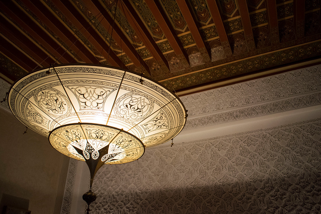 Moroccan chandelier at the Royal Mansour Marrakech