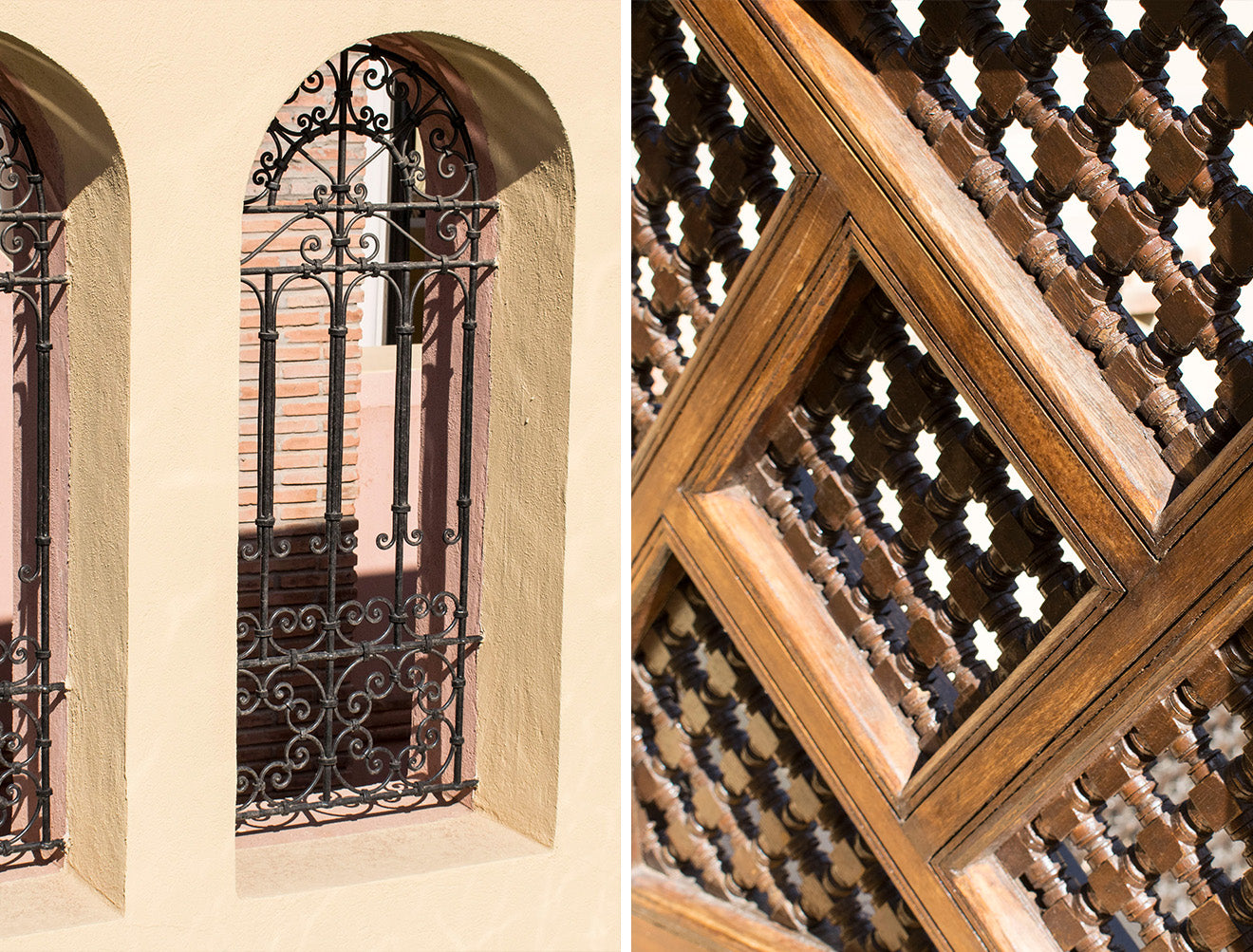 Beautiful wood and ironwork detail at the Royal Mansour