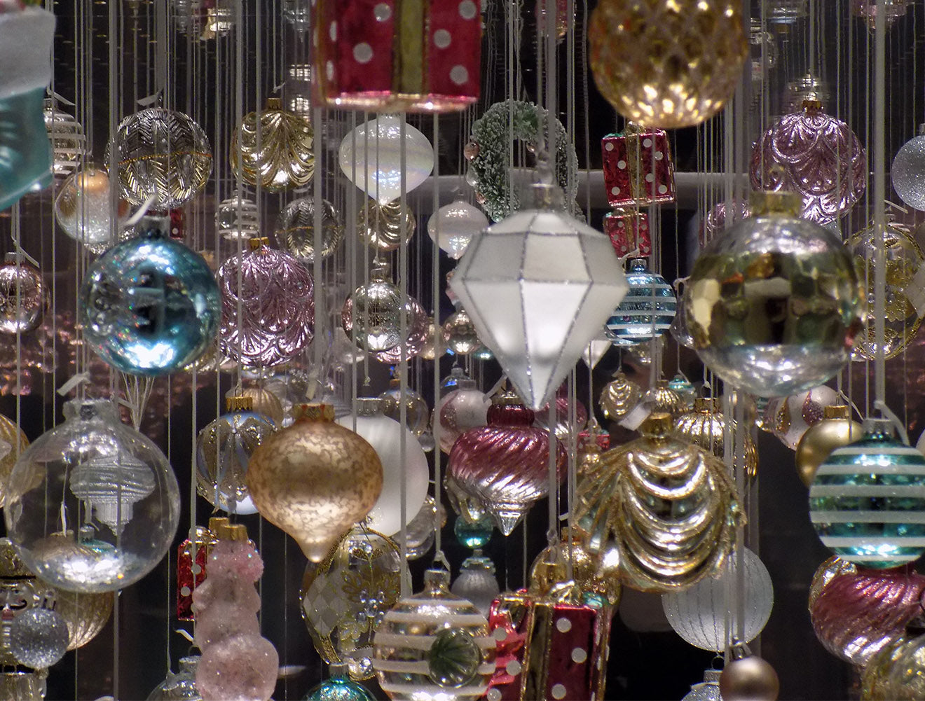 Luxury baubles from Marks and Spencer Home Christmas Decorations