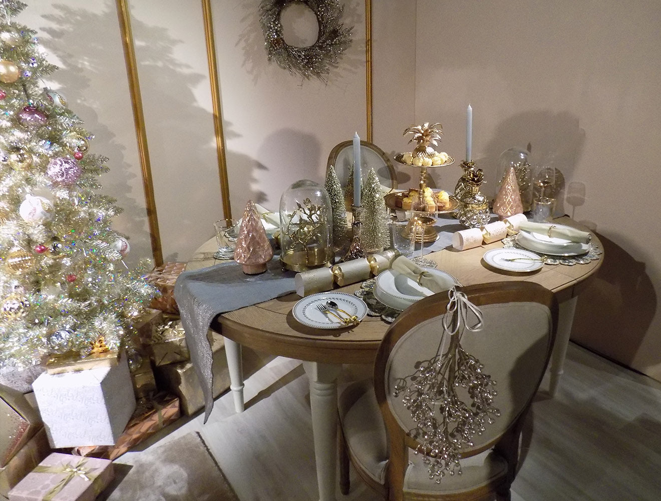 Gold Christmas decoration theme from Marks and Spencer