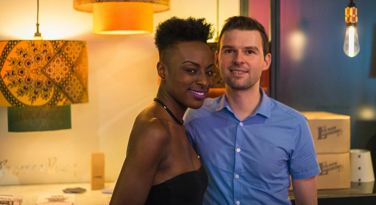 Martyn White and Vanessa Agyemang