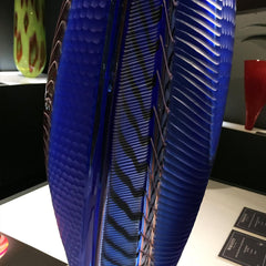 modern blue glass vase