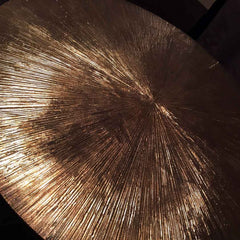 Gold textured coffee table