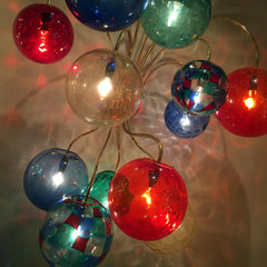 Multi coloured glass pendant lighting
