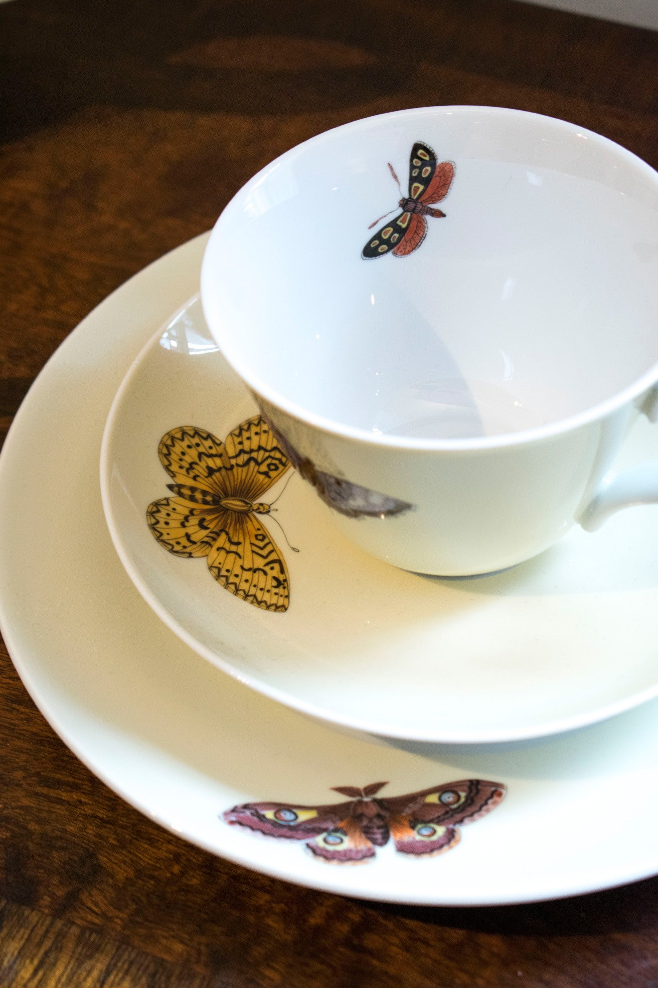 Meissen butterfly teacup and saucer Asprey
