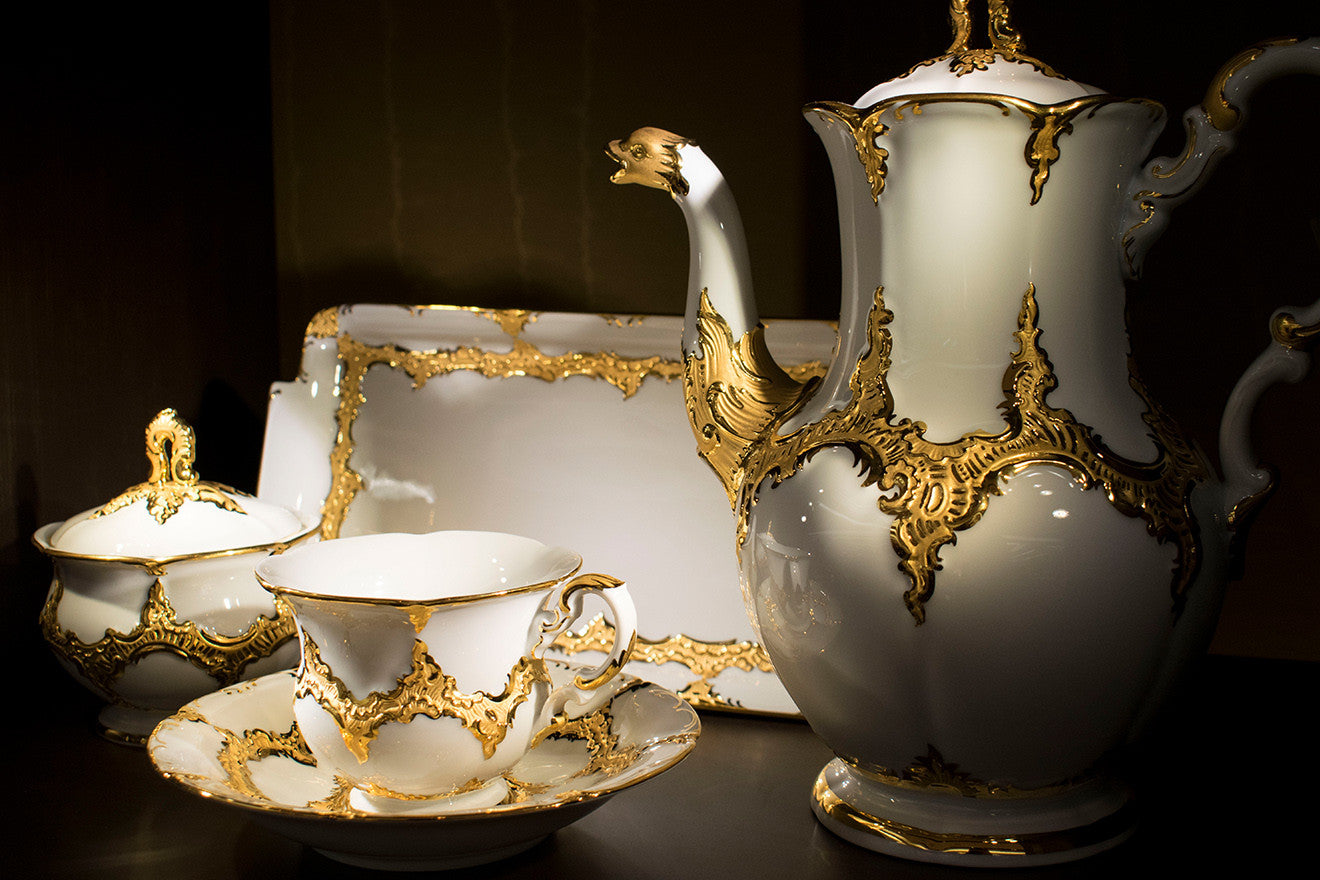 Royal B + X collection teaset Meissen Harrods