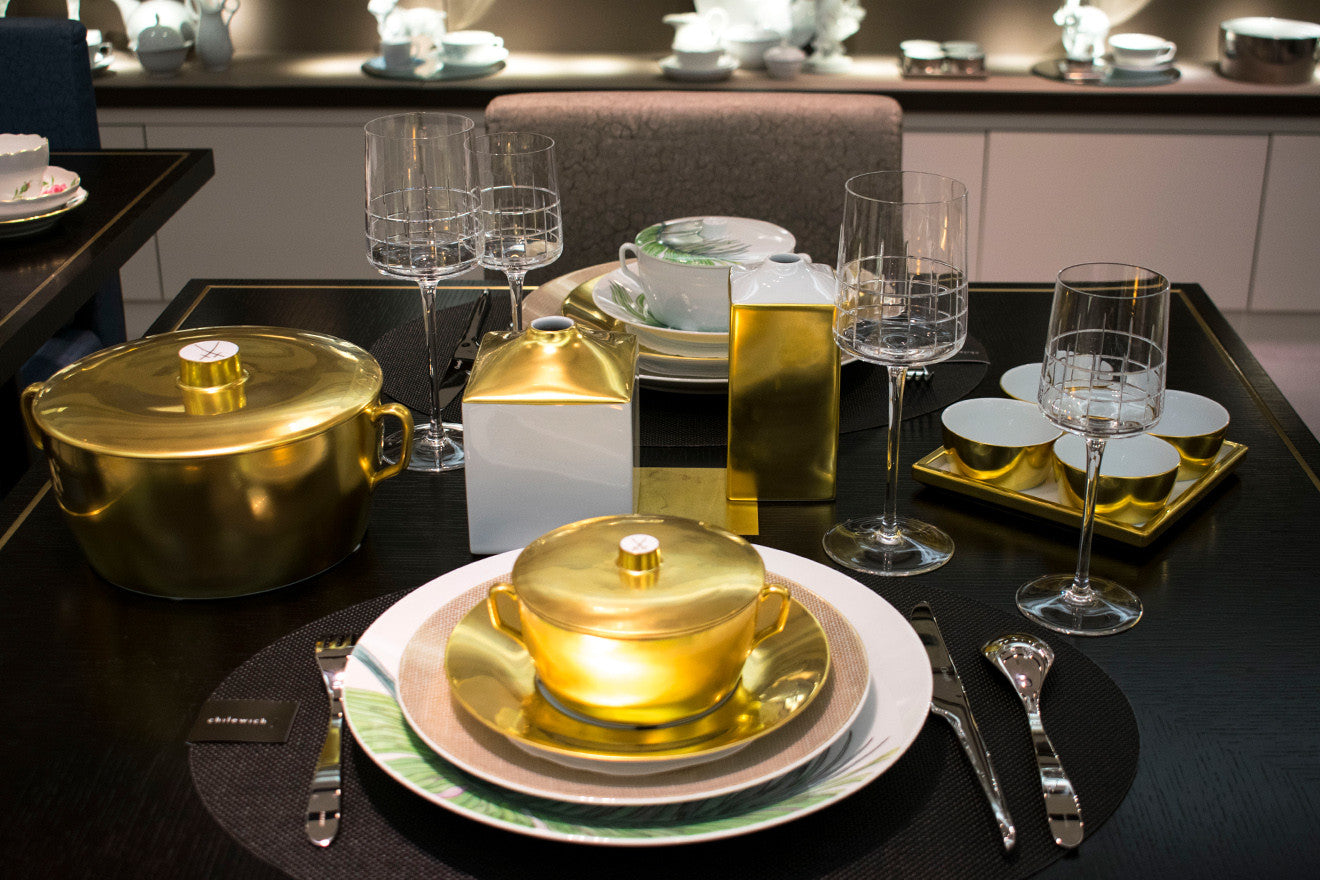 Meissen luxury contemporary style crockery and table setting