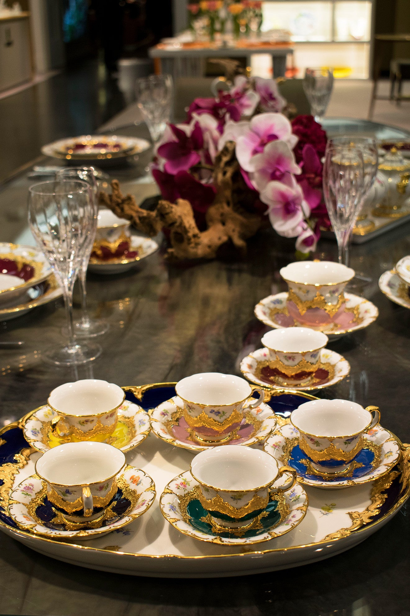 Meissen luxury teaware tea cups and tableware