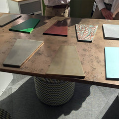 Metal furniture finishes